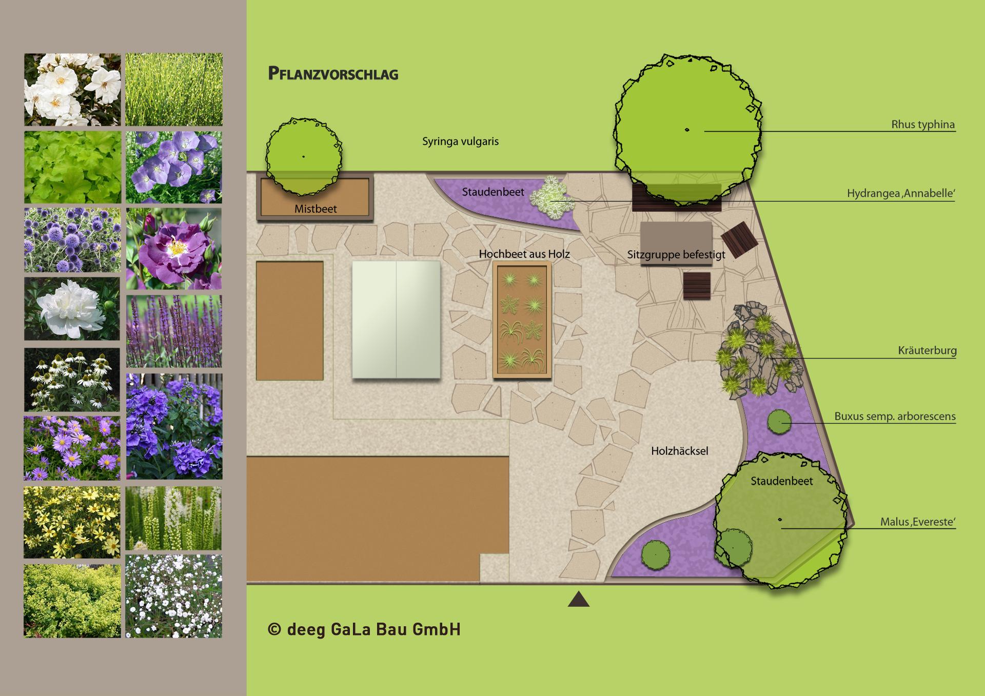 deeg Garten Umgestaltung und Pflanzvorschlag
